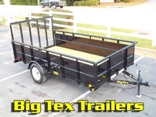 Big Tex Utility Trailers with 24in Solid Metal Sides