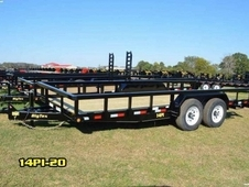 18ft Heavy Duty Pipe-Top Equipment Hauler