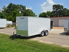 TEXAN CARGO 7' X 14' W/ DOUBLE REAR DOORS VT714TA V-NOSE