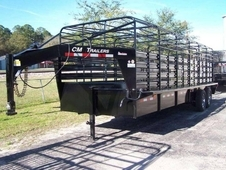 CM BrushBuster ES 20' Bar Top Stock Trailer