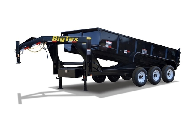 Big Tex Triple Axle Extra Wide Gooseneck Dump