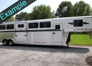 New 4-Star 4 Horse Deluxe Quiet Ride w/ Dressing-Room