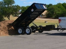 10' x 5' Tandem Axle, Single Ram Dump