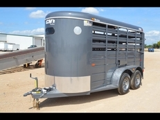 "CM Stocker Steel Livestock Trailer 14' x 5' x 6'6"" Starting at $4,999"