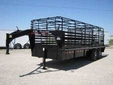 CM Brushbuster BT 20' Steel Bar Top Stock Trailer