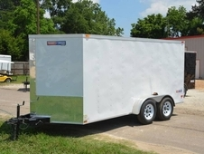 Texan Cargo 7x14 Tandem Axle Enclosed Trailer with Ramp and Additional Height