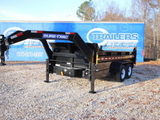 2017 Sure-Trac GN HD Low Profile Dump 7 x 14 Scissor 14K ST8214HL...