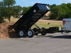 BIg Tex 70SR 10' x 5' Tandem Axle Single Ram Dump