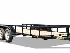 Big Tex 45SS Economy Tandem Axle Pipe Top Utility