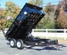 12ft Pro Series Scissor Lift Dump Trailer w/ Ramps