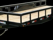 18' Heavy Duty Tandem Axle Pipe Top Utility