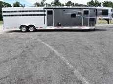 New 2019 Lakota 8011STKGLQMT Charger Stock Trailer with 11' Short Wall