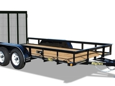 Big Tex 50LA 12' Tandem Axle Angle Iron Utility