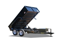 Big Tex 70SR 10' Tandem Axle Single Ram Dump w/ Double Rear Doors