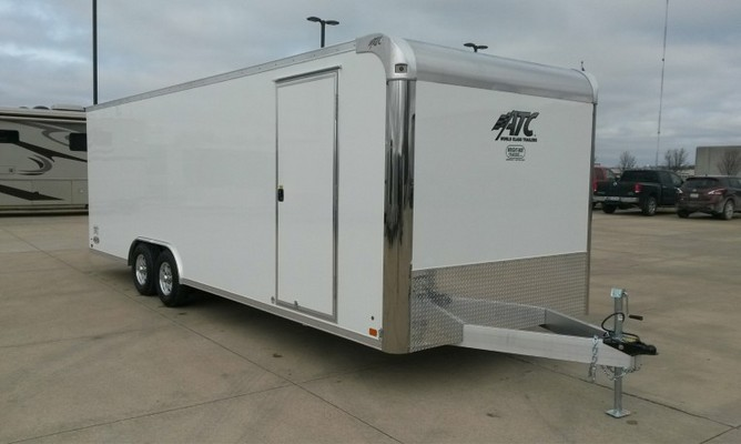 ATC 24′ Aluminum Enclosed Car Trailer w/ Premium Escape Door