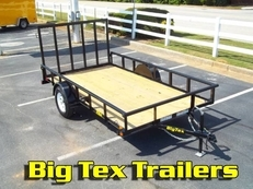 Top Quality BIG TEX Utility Trailers, 5x8 to 6.5x14
