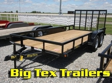 Tandem Axles Utility Trailers from Big Tex 50LA Series 77x10 to 77x18