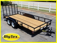 Big Tex 77x16 Utility Trailer Pipe Top 16'