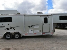 Used 2015 Shadow 7208GLQ 2 Horse Trailer with 8' Short Wall