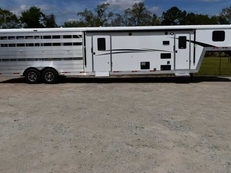 New 2019 Bison Trail Boss 7009STLTSO Stock Trailer with 9' Short Wall