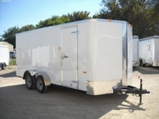 Lark 7 x 16 Tandem Axle Cargo w/ Rear Ramp & Side Door  VT716TA
