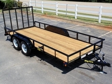 16' ECONOMY TANDEM AXLE PIPE TOP UTILITY TRAILER