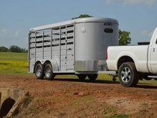 "CM Stocker 16' Steel Stock Trailer 6'8"" Wide"