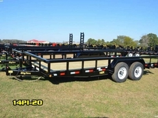 16FT HEAVY DUTY TANDEM AXLE PIPE TOP UTILITY