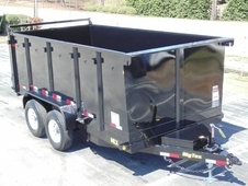 14ft Heavy Duty Scissor Lift Dump Trailer w/ 4' Sides & Ramps