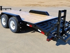 20' Equipment Trailer With Knee Ramps