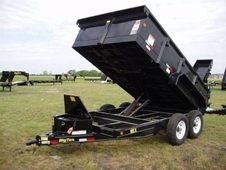 12ft Standard Duty Scissor Lift Dump Trailer w/ Ramps