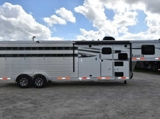 New 2018 Lakota Charger 709STK16LQ Stock Trailer with 9' Short Wall