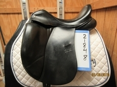 "Custom Steffen's Advantage Used Dressage Saddle 17.5"" M"