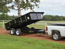 14ft Heavy Duty Scissor Lift Dump w/ Hydrolic Jacks