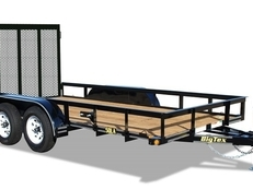 12' Tandem Axle Utility With Ramp Gate
