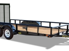 "83"" x 14' Tandem Axle Pipe Utility With Ramp Gate"