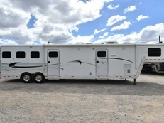 Used 2004 Kiefer Built 8312GMT 3 Horse Trailer with 12' Short Wall