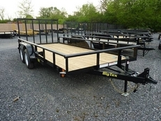 16' Tandem Axle Pipe Utility With Ramp Gate