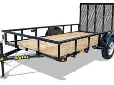 14' Single Axle Utility with Ramp Gate