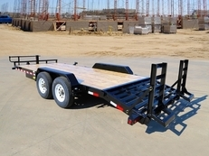 20' Heavy Duty Tandem Axle Equipment With Knee Ramps