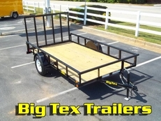 Big Tex Single Axle Utility Trailer 5x8 through 6.5x14 starting at $1219