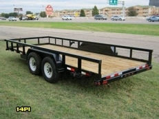 -18ft Heavy Duty Pipe-Top Equipment Hauler-