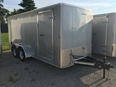 Carry On Hawkline 7x16 16ft Enclosed Trailer w/ Rampgate, Side Door, Recessed D-Rings and Rounded Corners