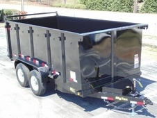 14ft Heavy Duty Scissor Lift Dump Trailer w/ 4' Sides & ...