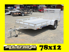 New Aluma All Aluminum Utility Trailer, ES Series 78x10 & 78x12