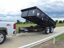 16ft Heavy Duty Scissor Lift Dump w/ Ramps