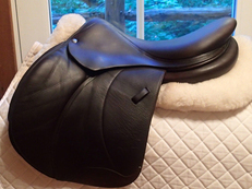 "Beautiful 17"" Voltaire Palm Beach Full Buffalo Saddle 2014 3A"