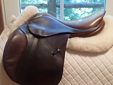 "Gorgeous 16.5"" Tad Coffin A5G Saddle 2004"
