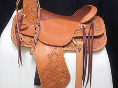 Twisted T Gaited Barrel Saddle, 15.5ins Regular QH Bars (6.5ins) Ref: 267-87