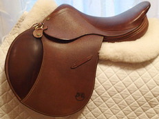 "BRAND NEW 16.5"" PJ Bruno Delgrange Saddle"